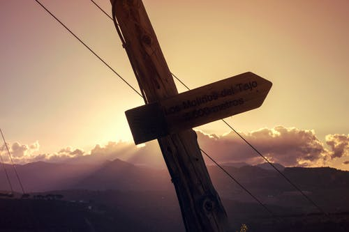 Brown Wooden Cross With Brown Wooden Cross