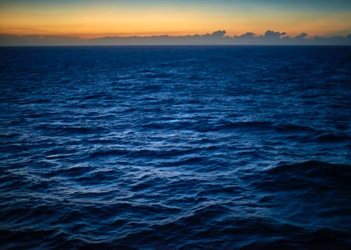 Free stock photo of blue ocean, early sunrise, pacific ocean