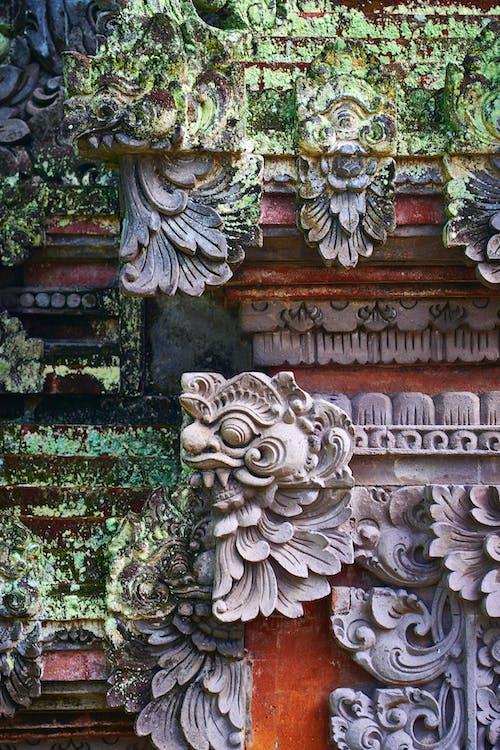 Brown Concrete Dragon Statue