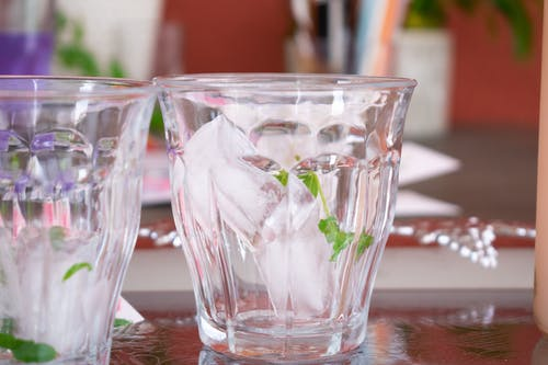 Free stock photo of drinking glass, ice, ice cubes
