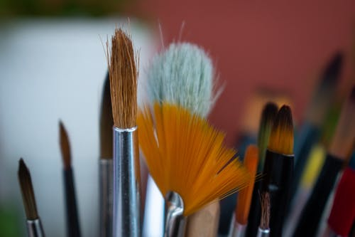 Free stock photo of paintbrushes, watercolor painting