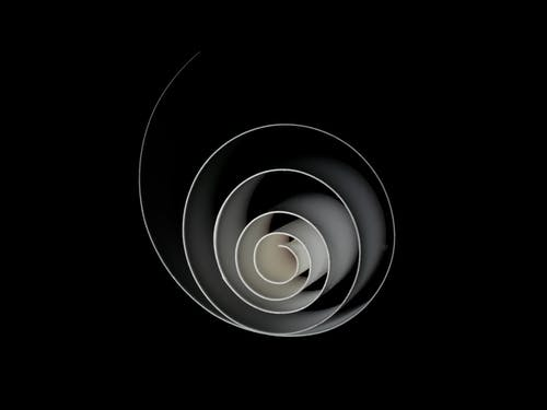 White Spiral on Black Background