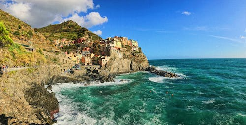 Free stock photo of cinque terre, colorful houses, italy, summer