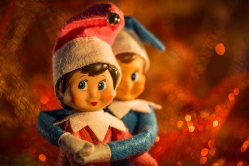 Gratis stockfoto met elfs, kaars, Kerstmis, plank