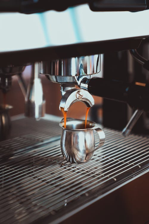 Photo of Stainless Cup on Espresso Machine