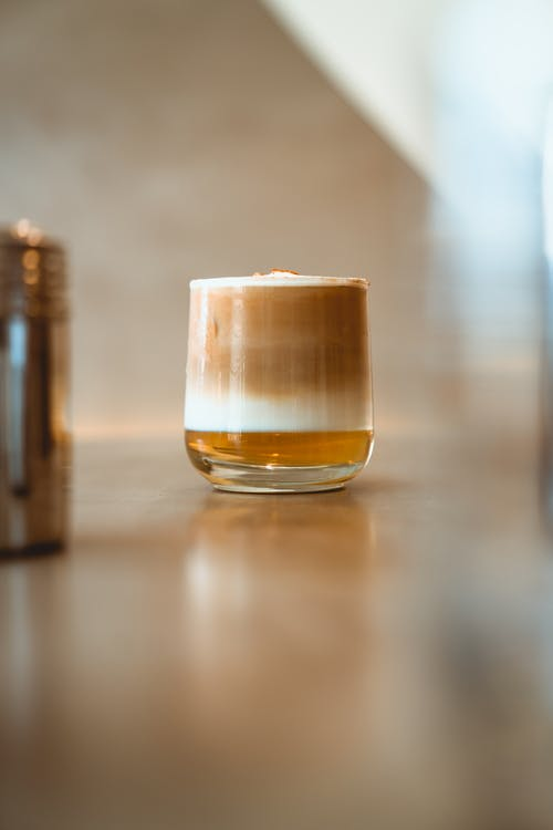 Photo of Iced Latte on Clear Drinking glass