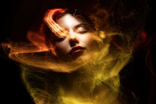Woman With Red and Yellow Hair