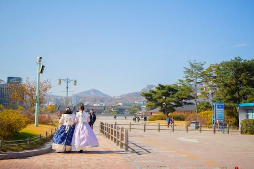 Darmowe zdjęcie z galerii z gyeongbokgung, hanbok, korea południowa