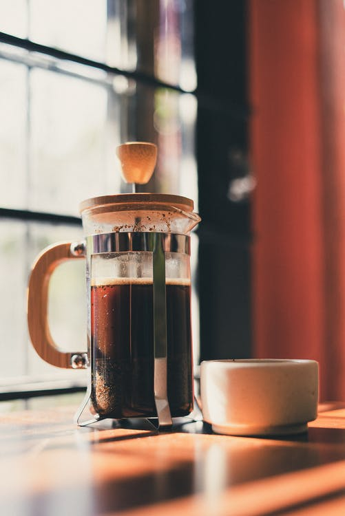 Close-Up Photo of French Press
