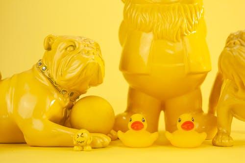 Part of yellow souvenirs composition