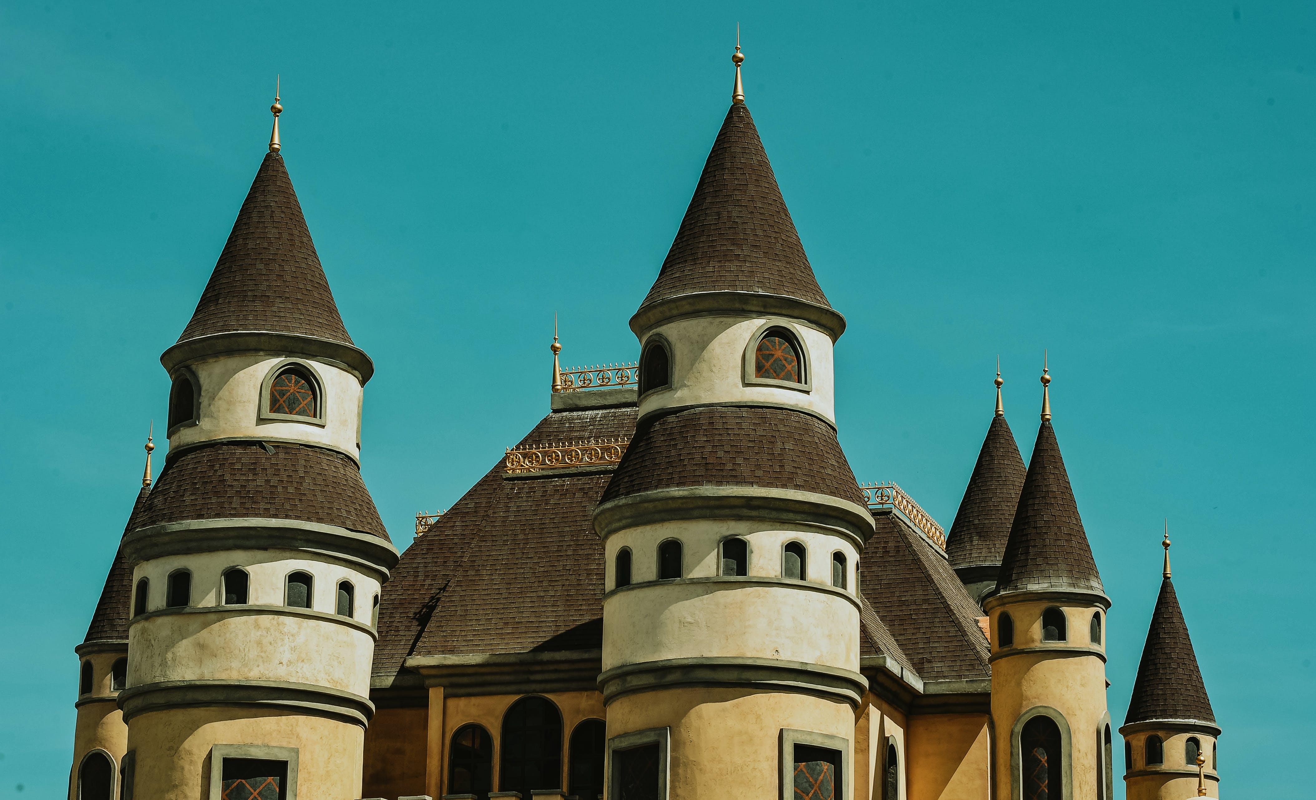 White and Brown Ceramic Castle