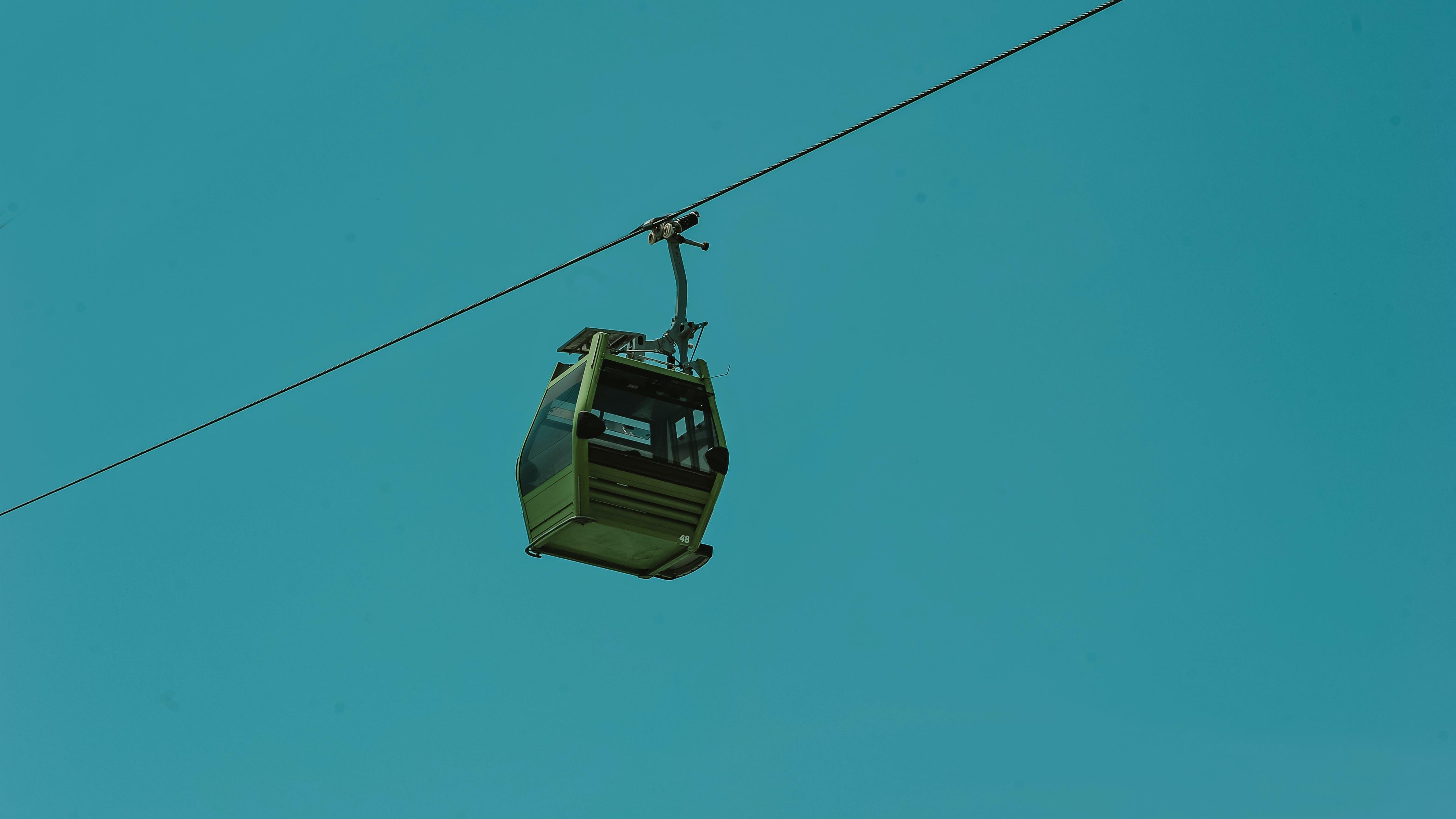 ausrüstung, blauer himmel, hängen