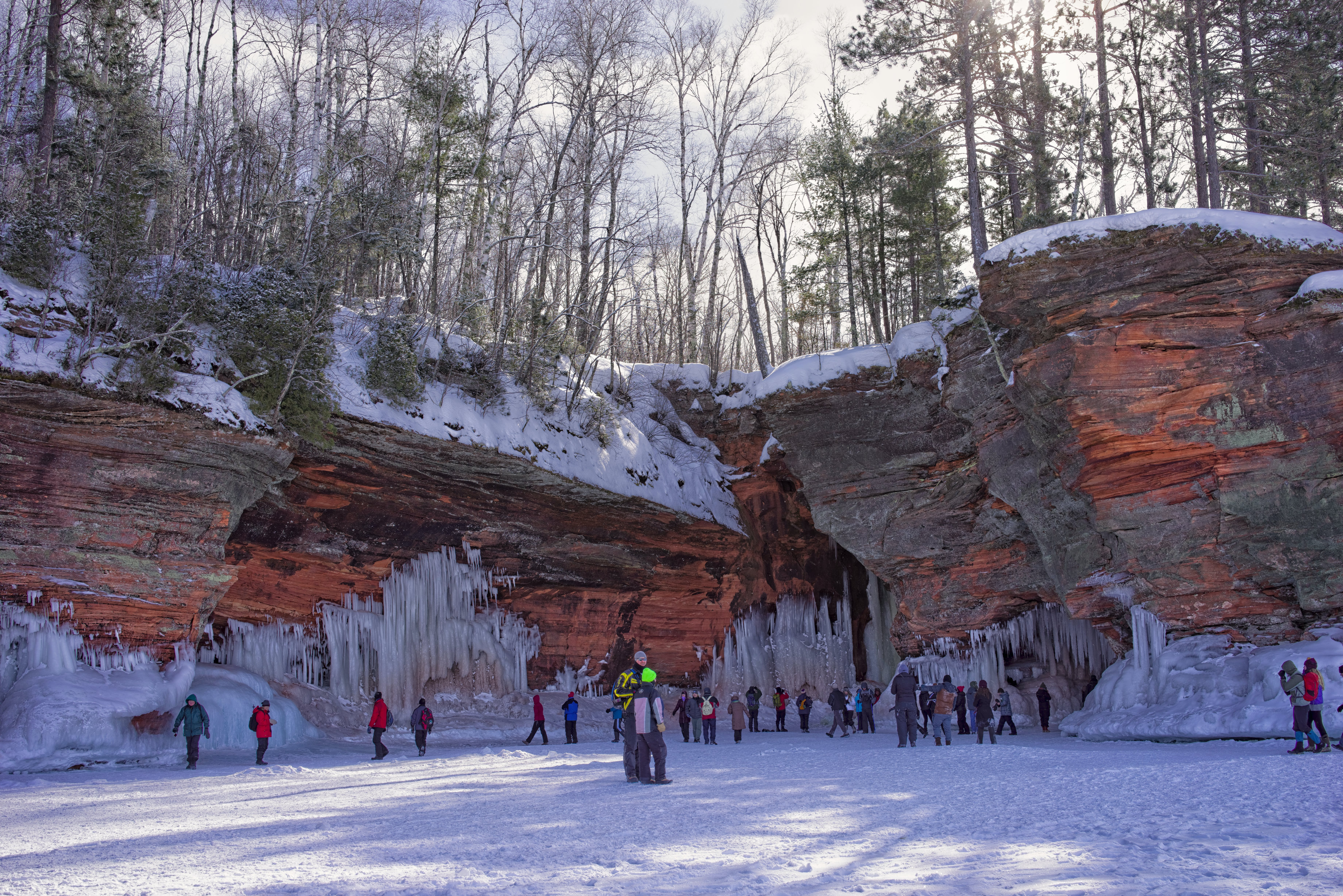 Free stock photo of caves, snow, winter landscape