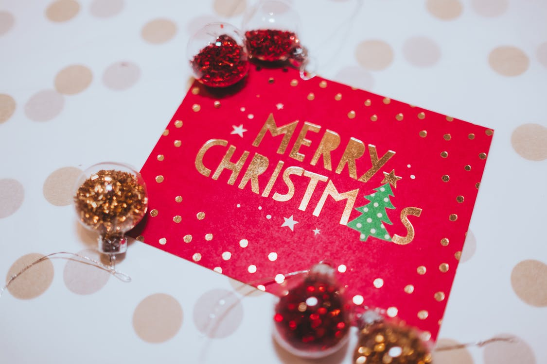 Close-up Photo of Christmas Card