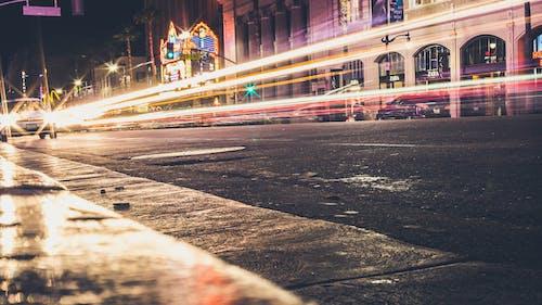 交通, 交通系統, 人行道, 光迹 的 免费素材照片