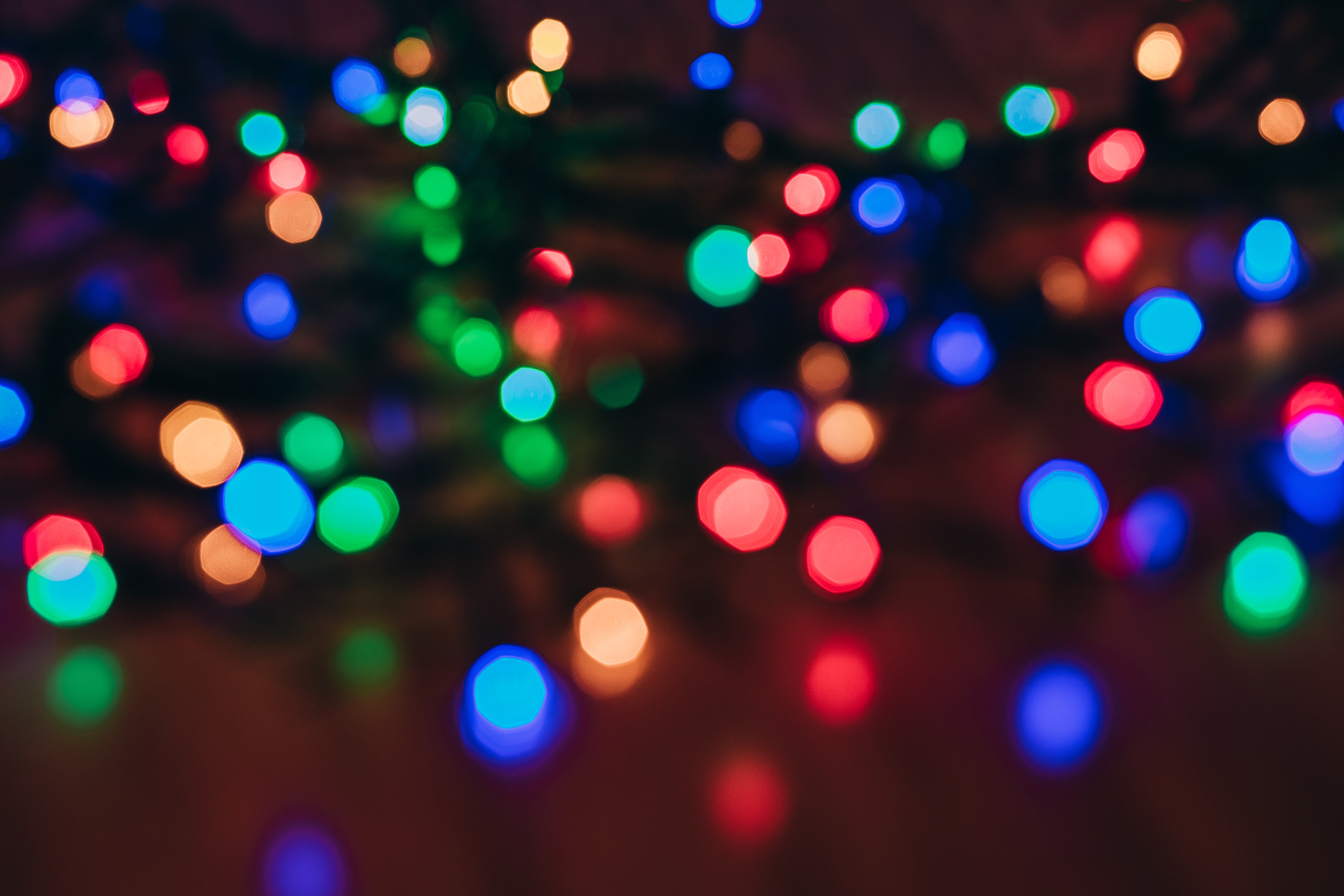 Lighted String Lights 183 Free Stock Photo