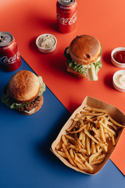 Two Burger Meals and Fries