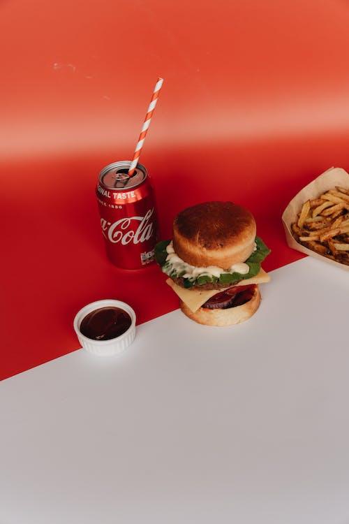 Burger Meal and Soda
