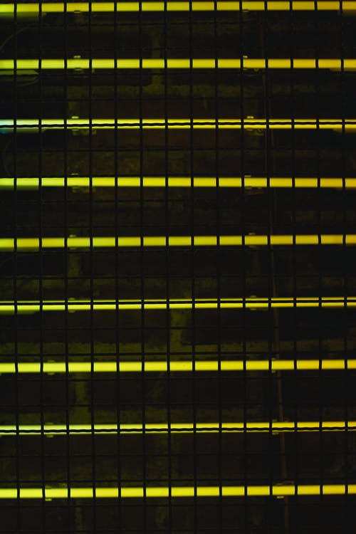 Black and Yellow Striped Textile