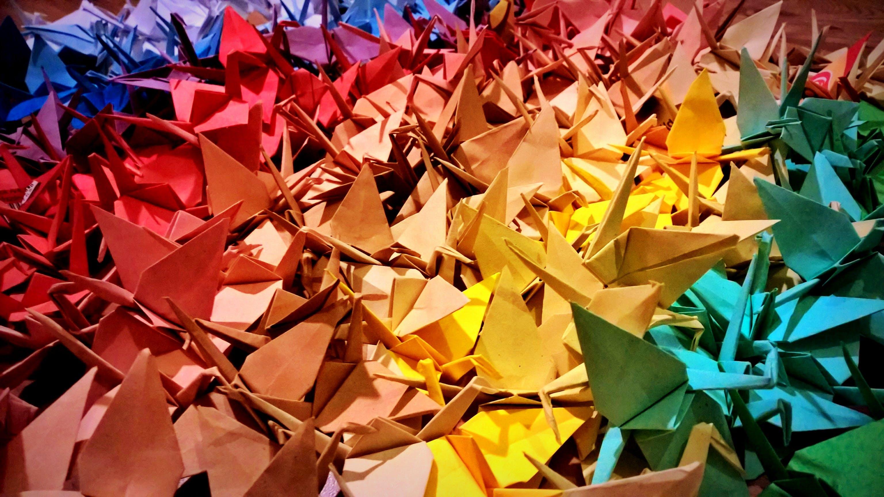 Free stock photo of night, crane, colours, origami