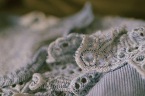 Close-up Shot of Floral Design Textile