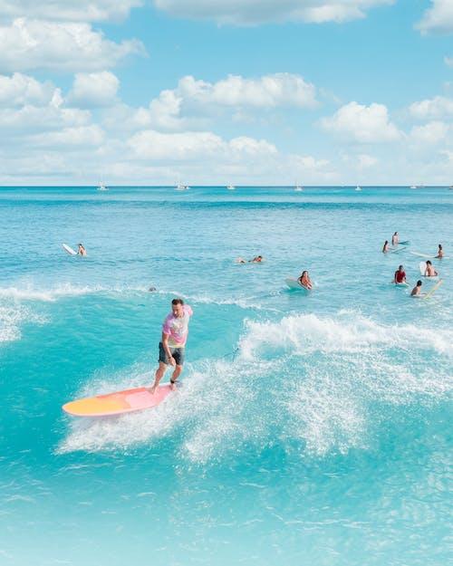 Immagine gratuita di divertimento, estate, fare surf