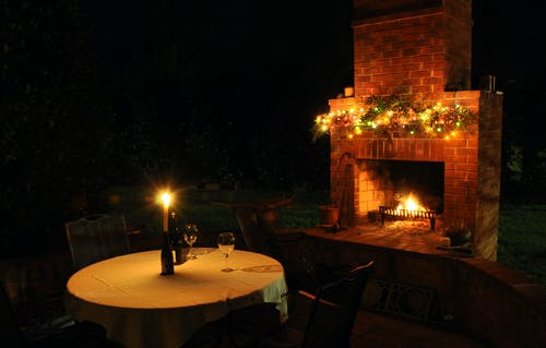 Free stock photo of December evening on the patio...