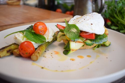 Egg and Vegetables on Toast