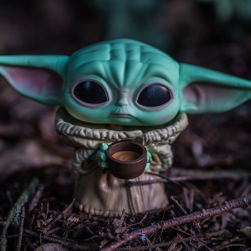 Close-Up View of a Yoda Figurine