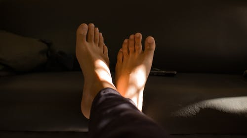 A Close-Up Shot of a Persons Feet
