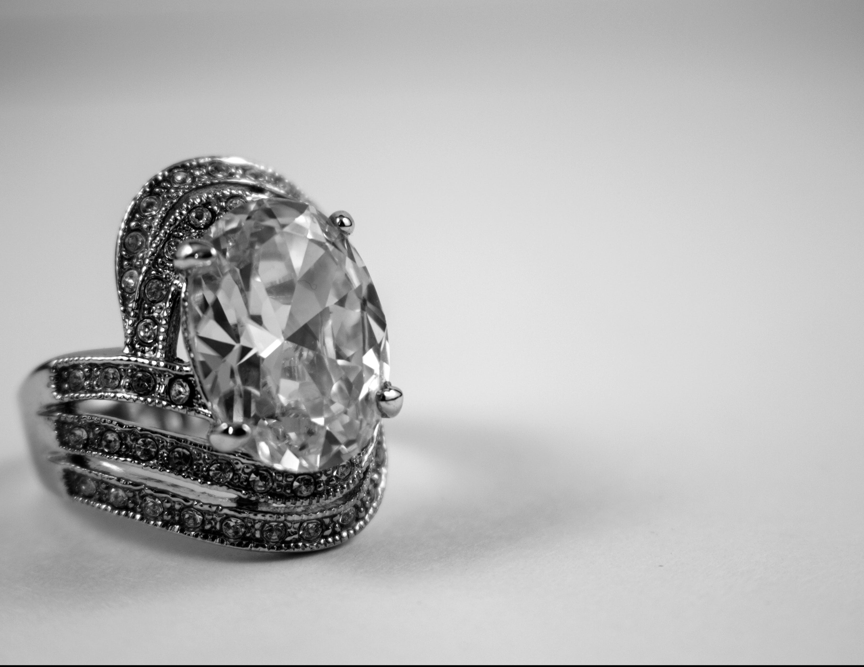 Diamond Silver-colored Ring