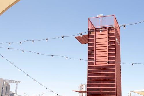 Foto stok gratis aturan ketiga, cahaya, kontainer, langit