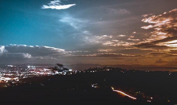 Kostenloses Stock Foto zu licht, stadt, dämmerung, landschaft