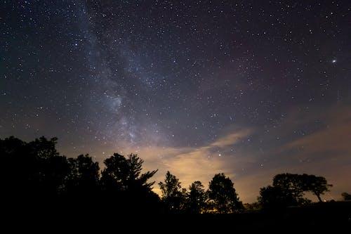 밤, 별, 은하수의 무료 스톡 사진