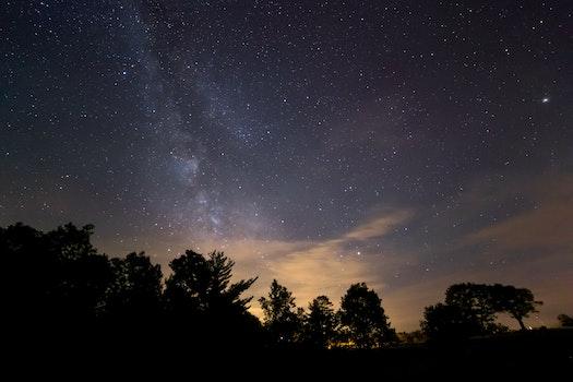 Free stock photo of night, milky way, stars