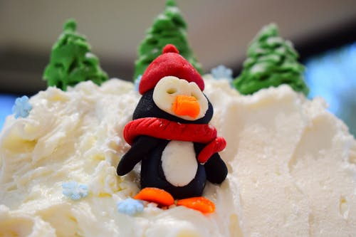 Free stock photo of blue sky, christmas, christmas cake