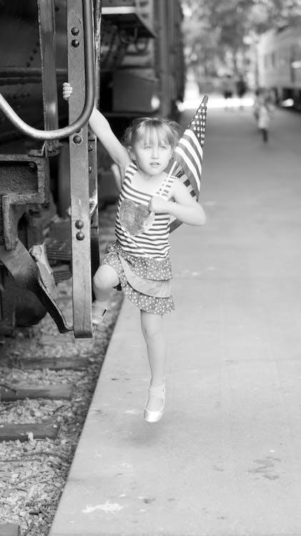 Безкоштовне стокове фото на тему «Дівчина, зірки і смуги, Патріотизм»