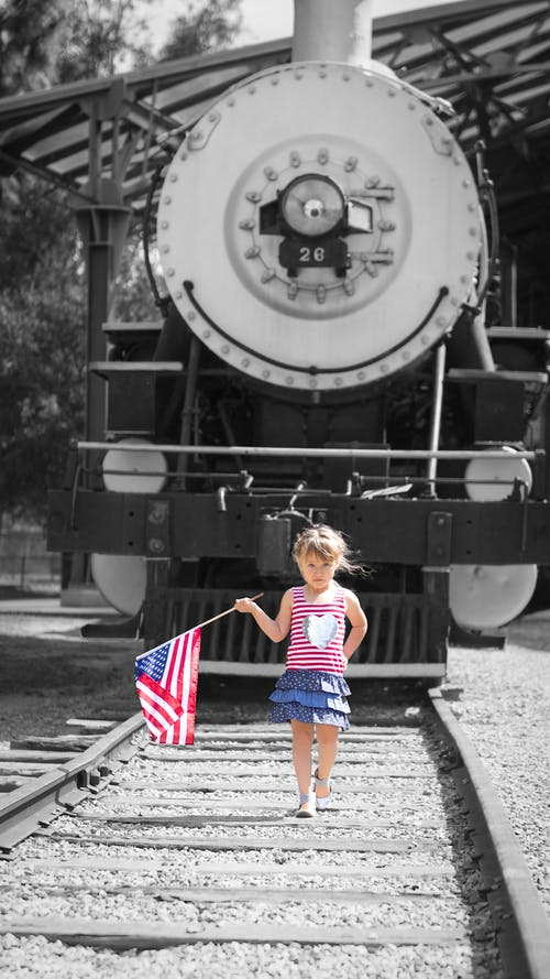 Free stock photo of girl, patriotic, patriotism