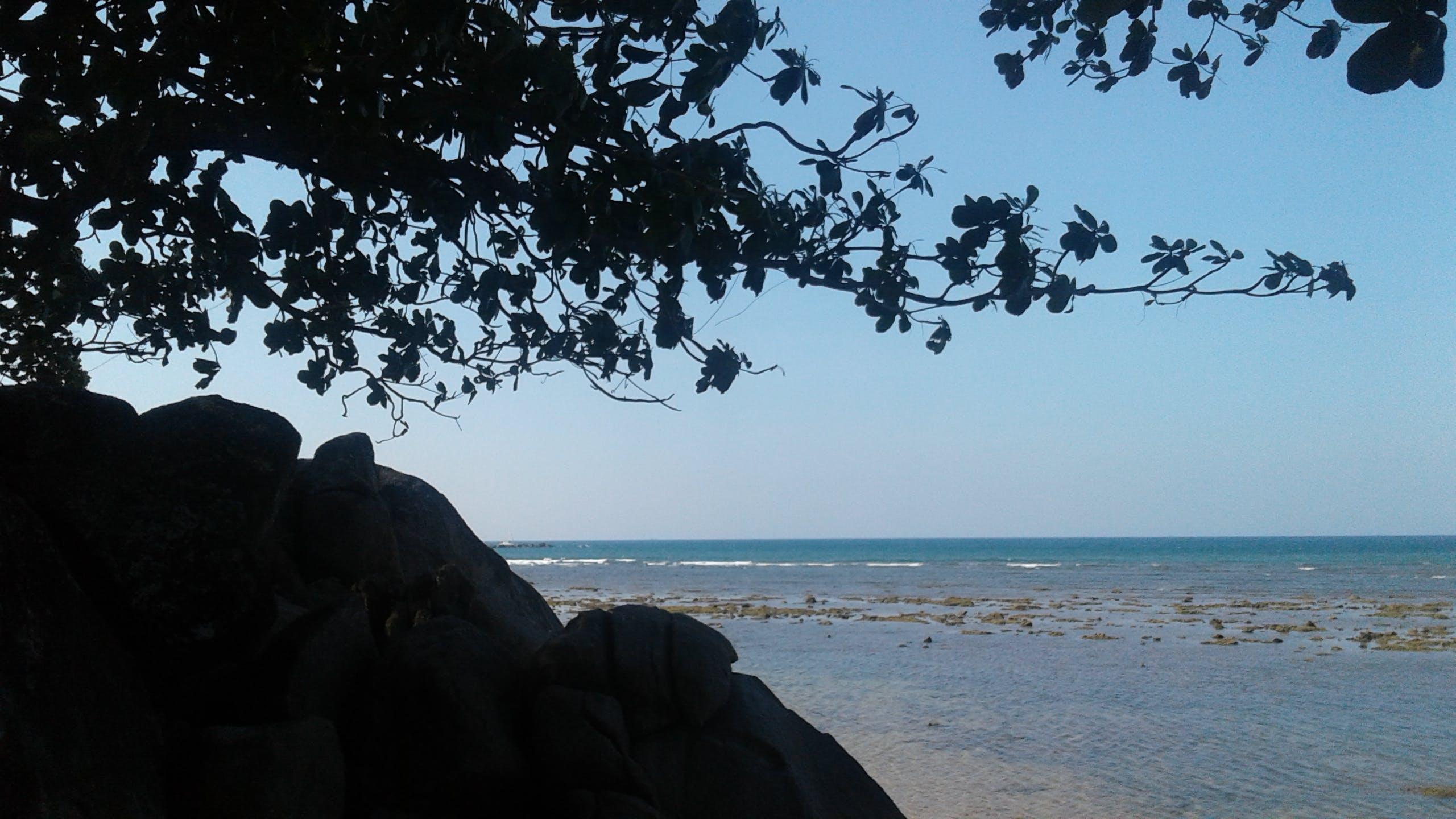 Free stock photo of background, beach, rocks, sea