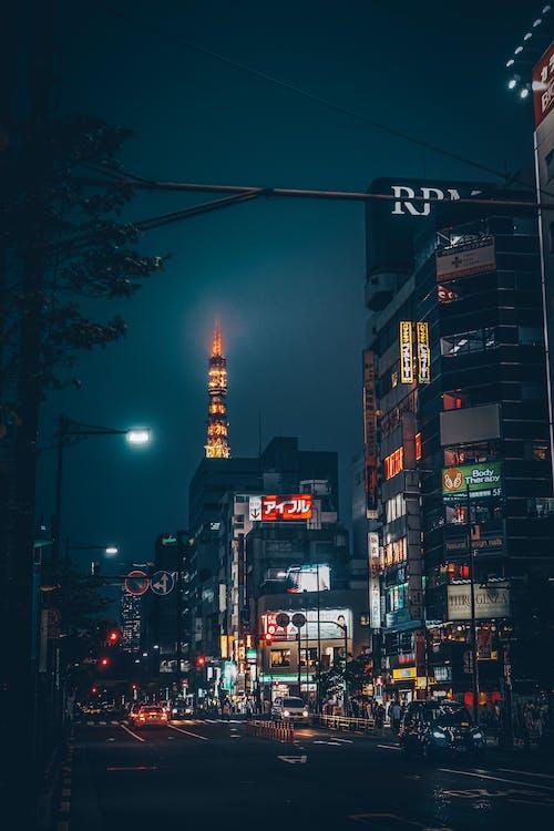 คลังภาพถ่ายฟรี ของ การจราจร, คืนท้องฟ้า, ตอนเย็น