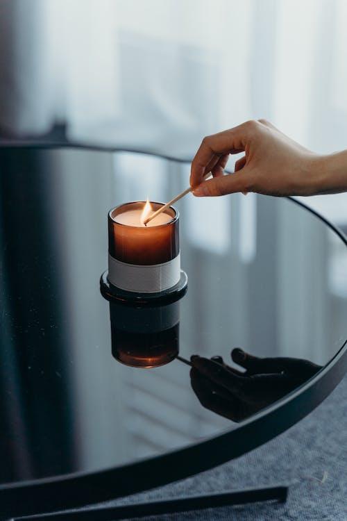 Foto stok gratis api, berbayang, cahaya lilin