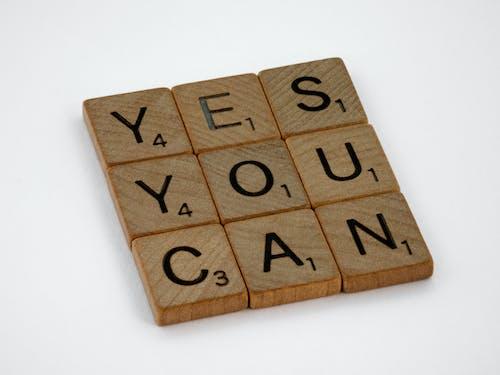 Kostnadsfri bild av citat, inspiration, jo det kan du