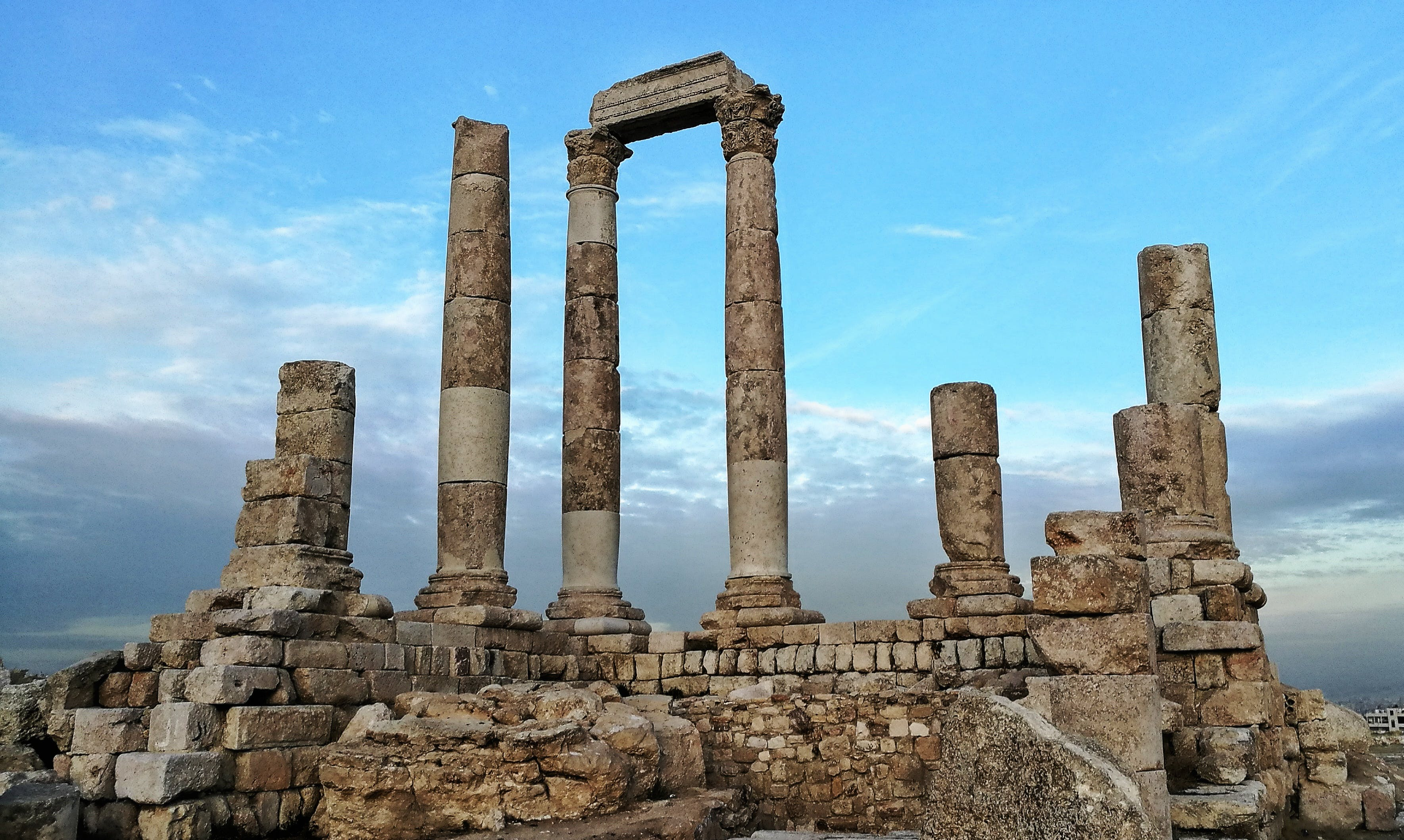 Free stock photo of amman, Amman Citadel, clouds, Hercules Temple