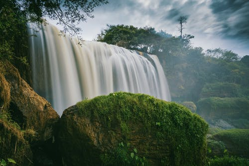 Photography of Waterfalls Surrounded by Trees