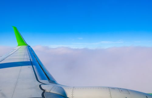 Scenery of Clouds from an Airplane