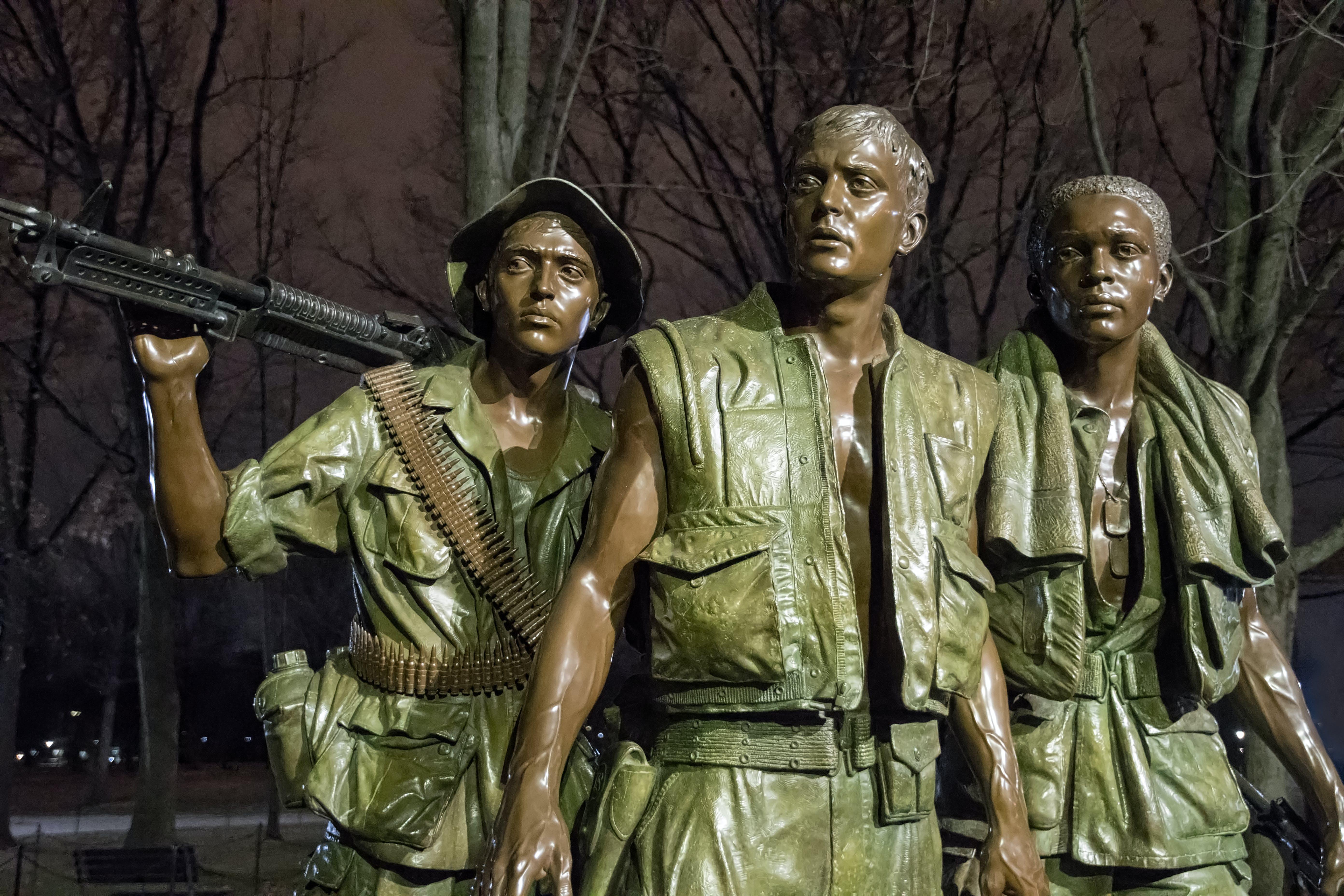 Free stock photo of The Three Service Men, vietnam veterans memorial