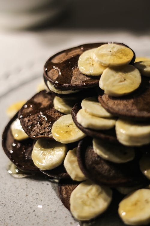 A Serving of Cookies with Banana Slices