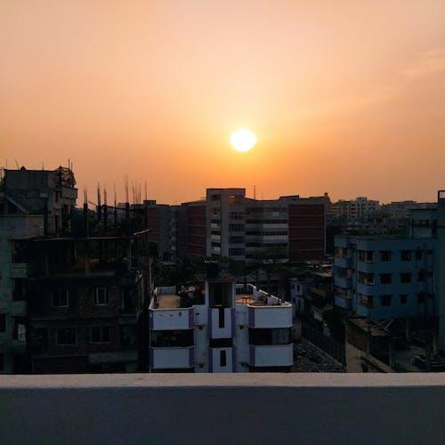 Free stock photo of beautiful sky, beautiful sunset, big city