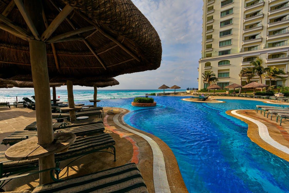 Swimming Pool Beside Nipa Hut