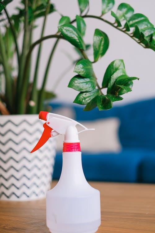 白と赤のスプレーボトル